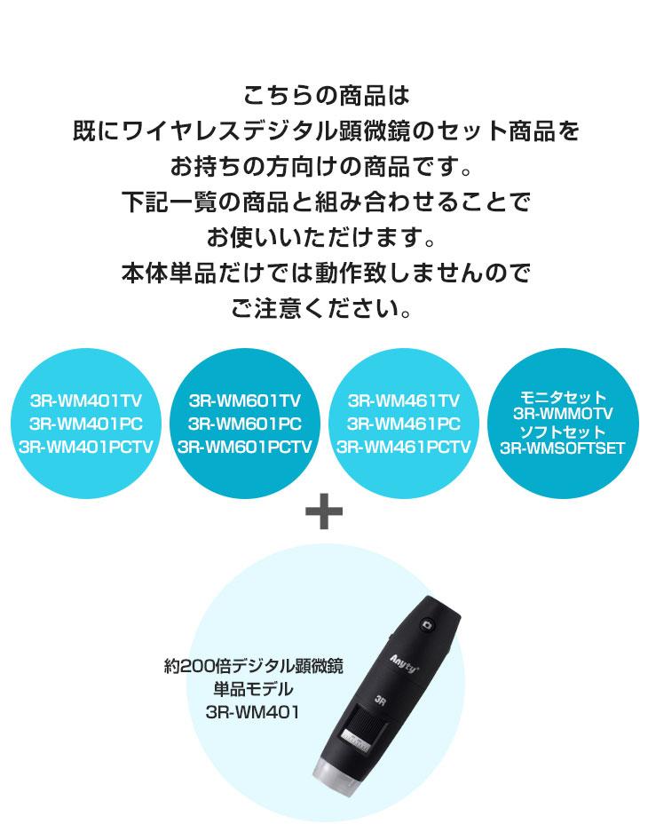 3R-WM401単品モデル対応製品一覧