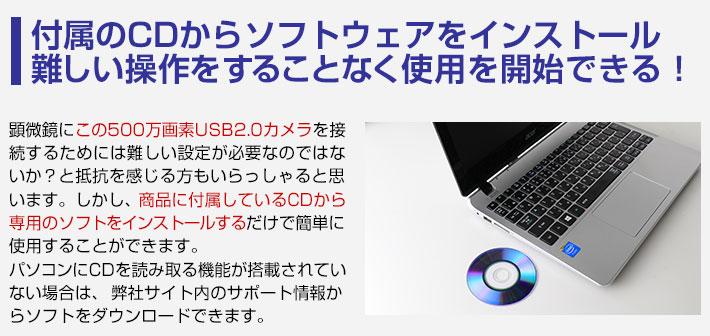 付属のCDからソフトウェアをインストール