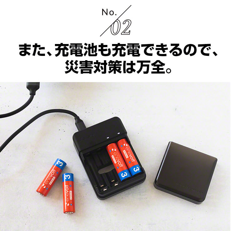 enevolt エネボルト 携帯用充電ケース Gosy ゴーシー 災害対策