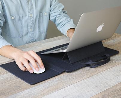 keeece キース 2Way ノートPCバッグ ノートPCスタンド付き PCケース PC収納 13インチ コンパクト インナーバッグ