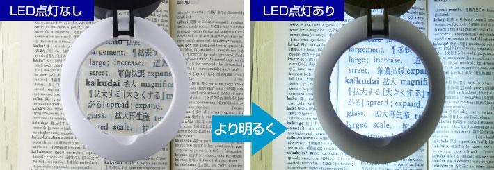 LEDライト点灯比較
