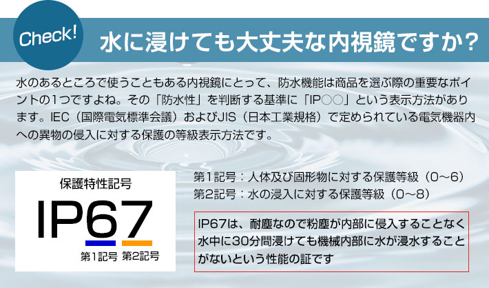 IP67の説明