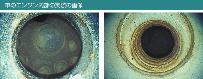 車のエンジン内部の実際の画像