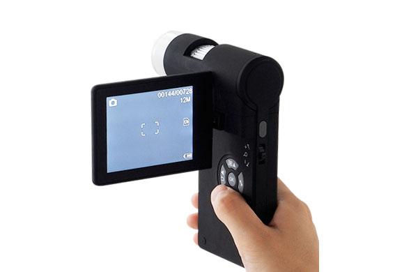 顕微鏡を片手で操作できる