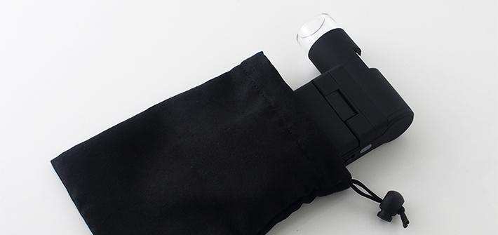 袋に入れた顕微鏡イメージ