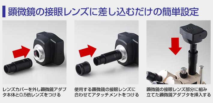 顕微鏡アダプタ設定手順