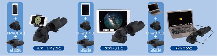 望遠鏡アダプタ組み合わせ事例