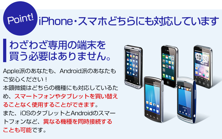 iphone・スマホ両方対応