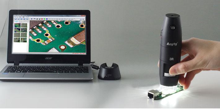 顕微鏡の映像を静止画・動画で保存