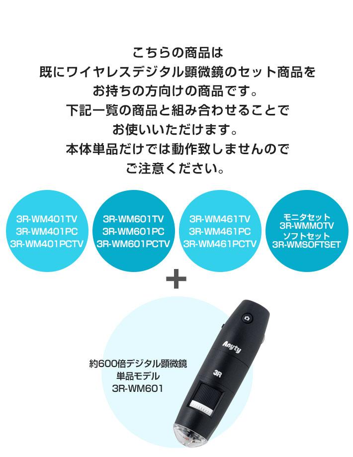 3R-WM601単品モデル対応製品一覧